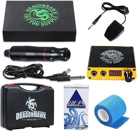 Dragonhawk Cartridge Tattoo Machine Kit Pen Rotary Tattoo Machine ...