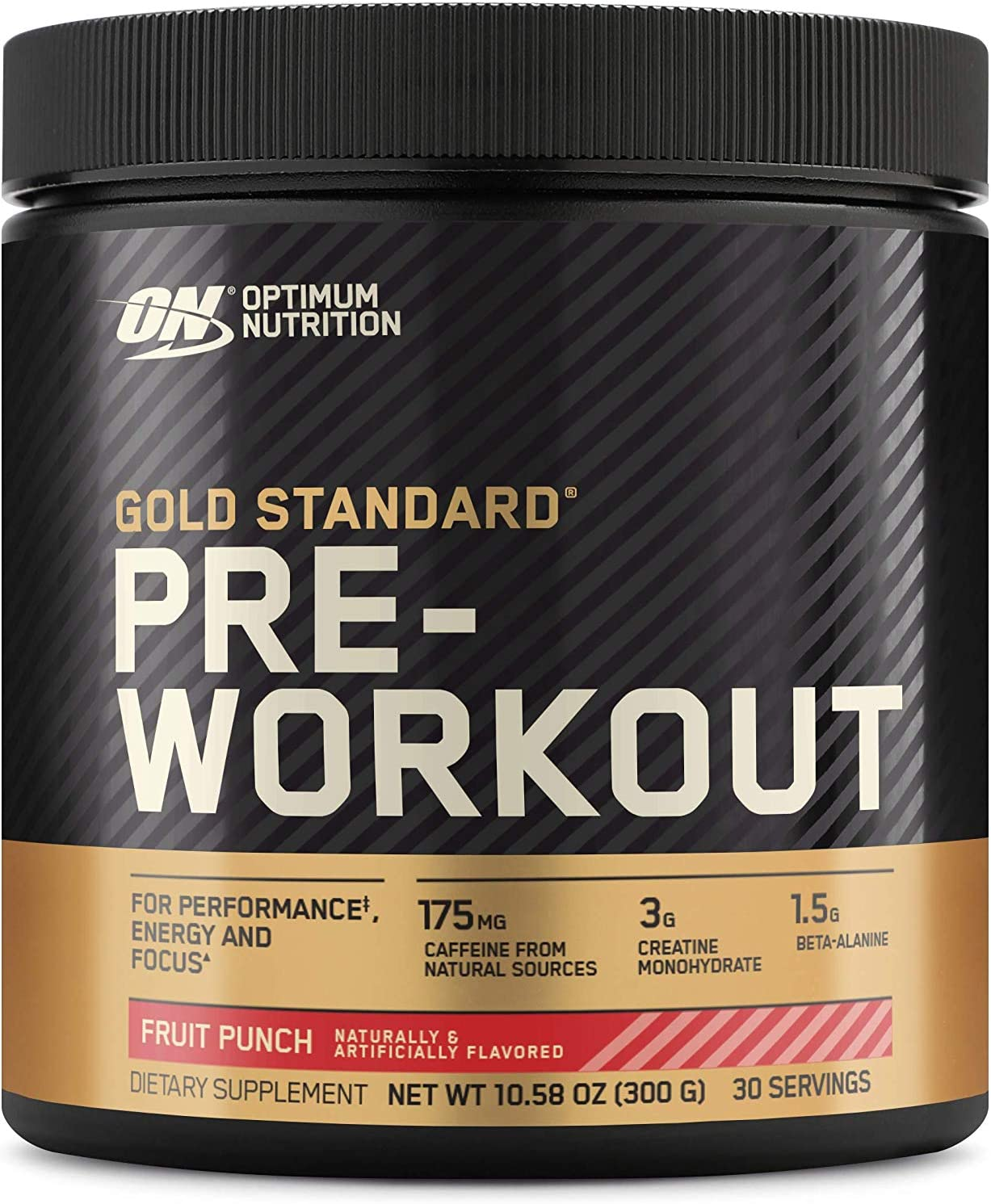 OPTIMUM NUTRITION Gold Standard Pre-Workout with Creatine, Beta-Alanine, and Caffeine for Energy, Flavor: Fruit Punch, 30 Servings: Health & Personal Care