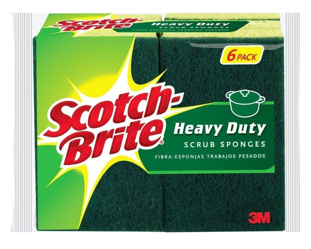 Scotch-Brite Heavy Duty Scrub Sponge, 60-Count