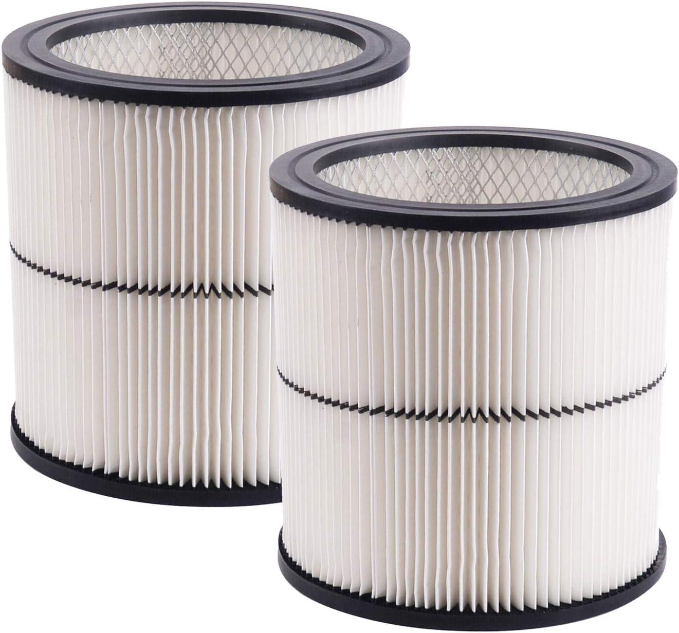 Carkio 17884 Vacuum Filter compatible with Craftsman 9-17884 17920 17921 17922 17923 17929 17935 17937 Cartridge Shop Vac Filter - 2pcs