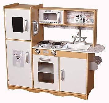 247 Kitchen.Kiddi Style Modern Chefs 247 Xlarge Childrens Kids Pretend Play Toy Wooden Kitchen