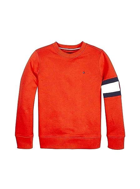 Tommy Hilfiger -Sudadera KB0KB04658 633 Cut+Sew Flag Sweatshirt -Sudadera SIN Capucha NIÑO: Amazon.es: Ropa y accesorios