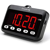 DreamSky Digital Kitchen Timer with Large Red Digit Display, Loud Alarm with ON/OFF Power Button, Count Up/Down Timer…
