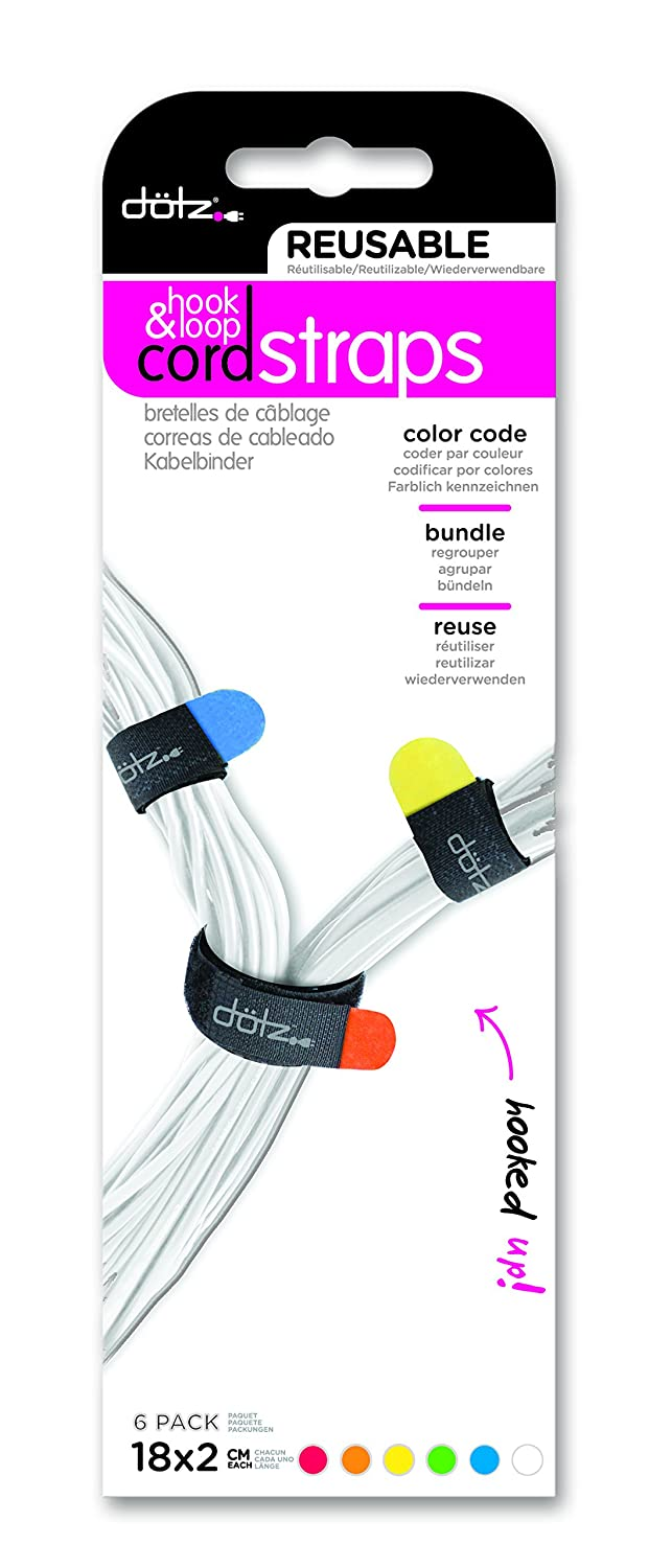 Dotz Reusable Hook & Loop Cord Straps for Cord and Cable ...