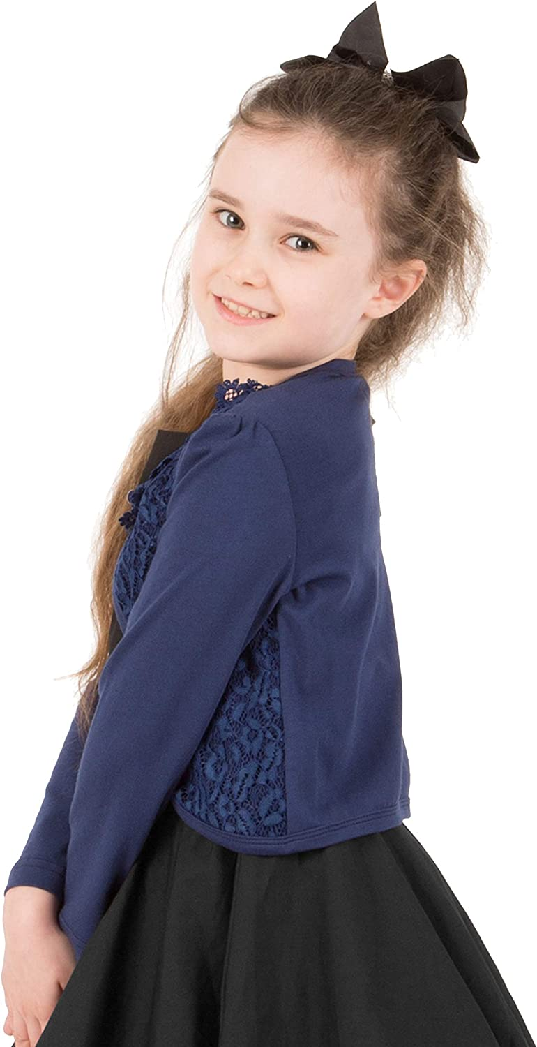BlackButterfly Kids Long Sleeve Lace Bolero Cardigan Childrens Girls Shrug