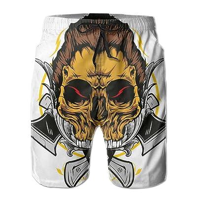 2017 New Style Axe Skull Non Denim Elastic Lounge Pants For Boys