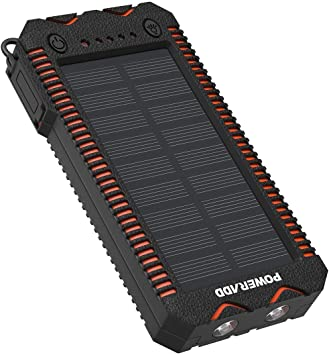 POWERADD Cargador Solar Portátil con 12000mAh, Batería Externa 2 ...