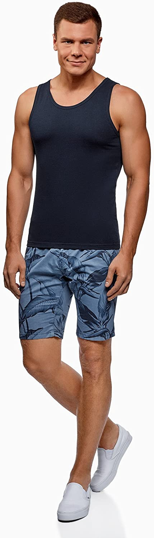 oodji Ultra Hombre Camiseta de Tirantes B/ásica