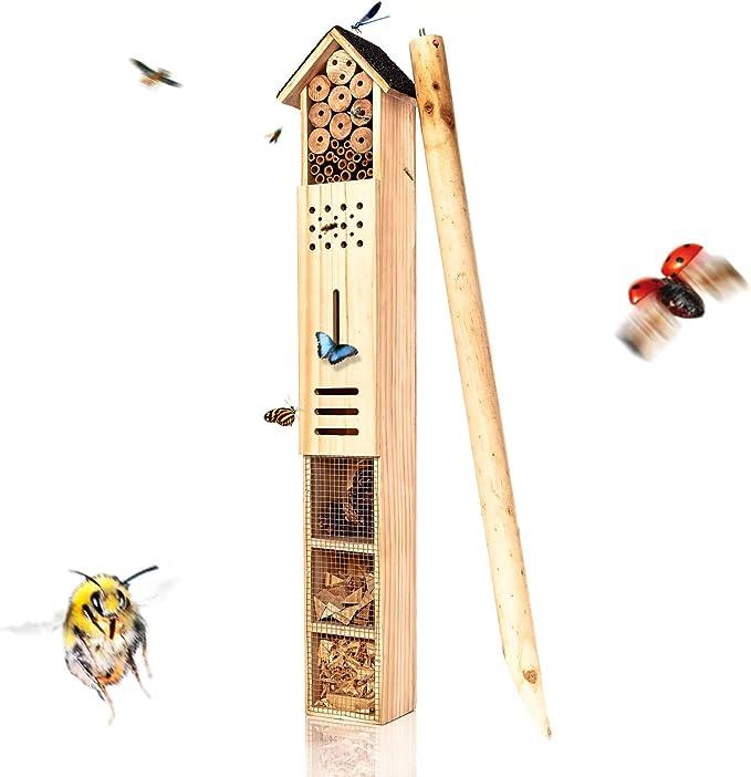 Grosses Insektenhotel - bambuswald XXL Insektenhotel mit Erdspieß