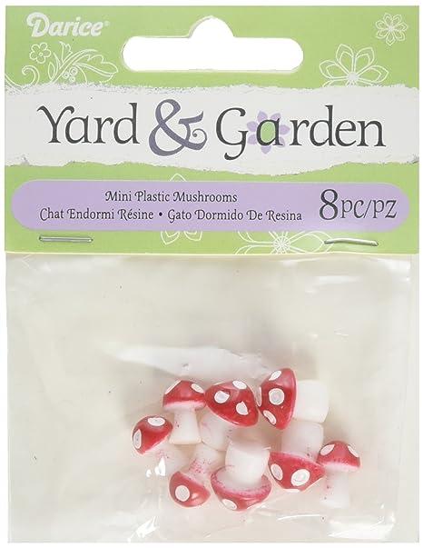 Amazon.com: Darice 161537 Mini Mushrooms Plast 8Pc: Home ...