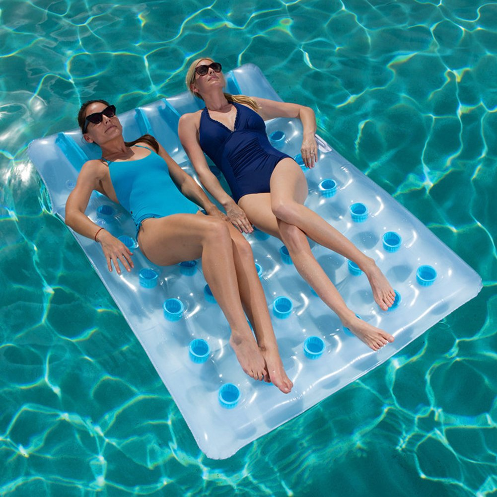 Amazon.com: Inflable flotante alfombrilla tumbona doble 36 ...