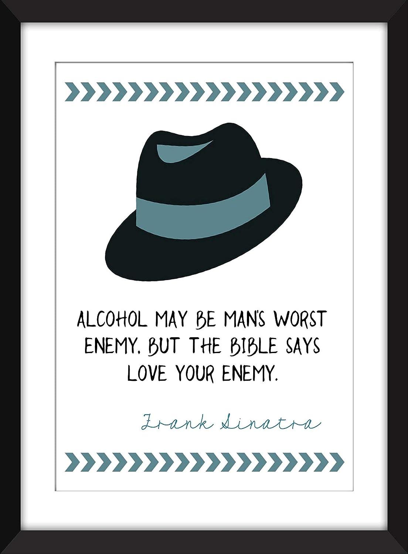 Frank Sinatra Cita del alcohol/impresión sin marco - Unframed Imprimir