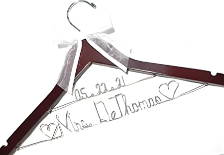 Bride hanger Personalized with  date