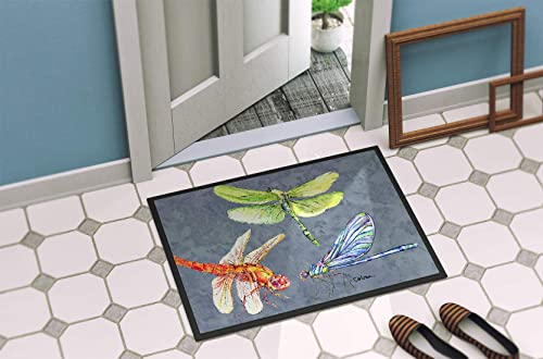 Caroline s Treasures 8878MAT Dragonfly Times Three Indoor or Outdoor Mat 18×27 Doormat, 18H X 27W, Multicolor