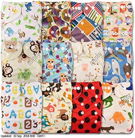 Set of 1 Littles /& Bloomz Fastener: Popper Without Insert Pattern 71 Reusable Pocket Cloth Nappy
