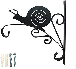 POMEGARDEN Snail Shape Hanging Plant Bracket Wall Hook Hanger for Planters,Lanterns,Wind Chimes,Flower Pot Baskets,Decorative Plants,Bird Feeders,Garden Patio Lawn Indoor Outdoor Decor
