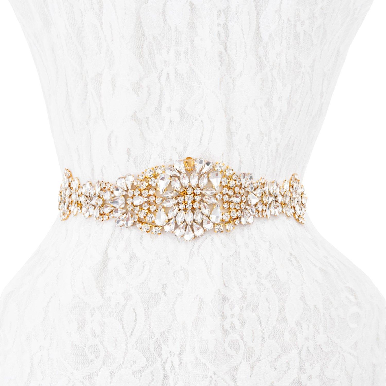 Wedding Bridal Belt Sashes, Wedding Belt Applique Rhinestones for Prom Party
