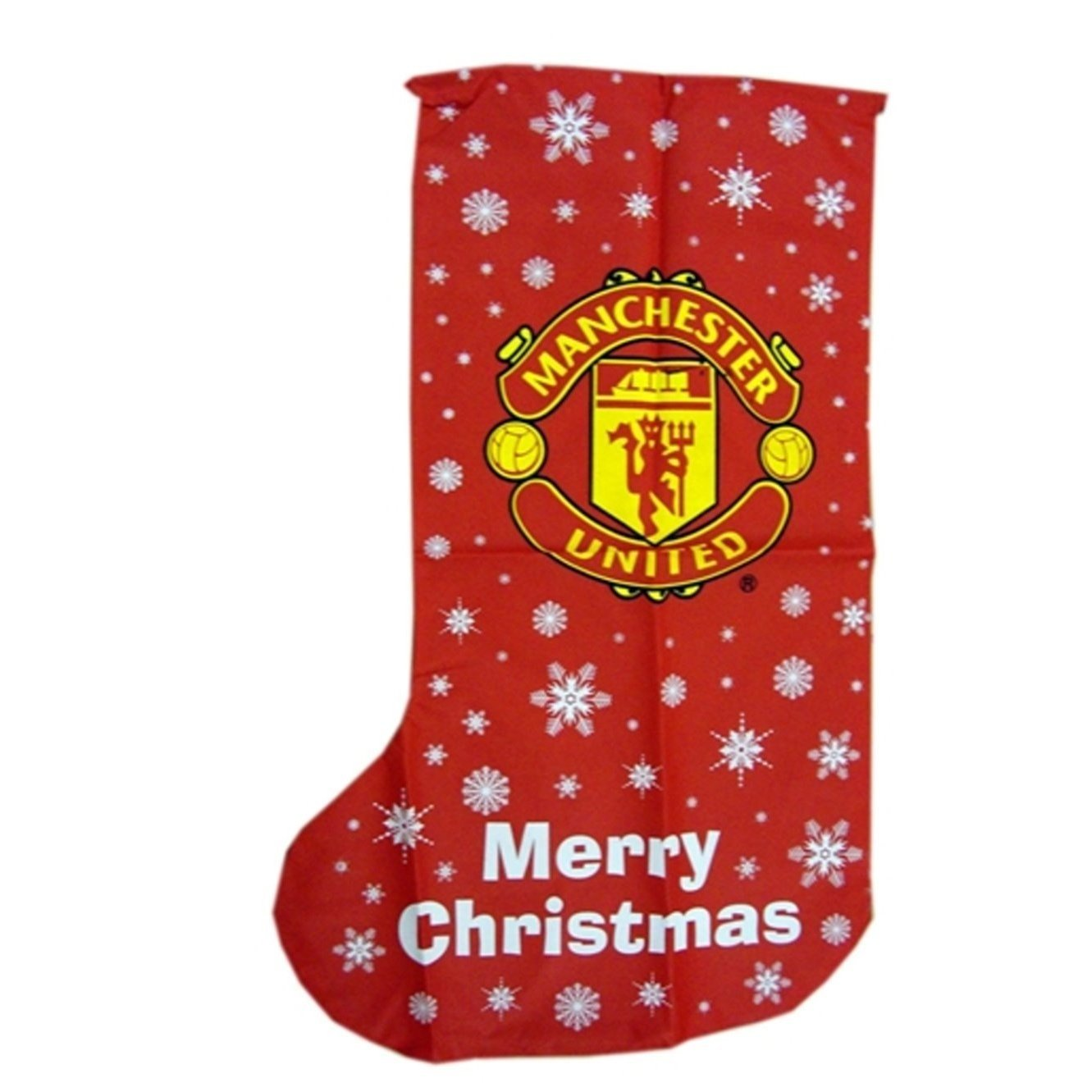 Manchester United Novelty Christmas Jumbo Present Stocking (One Size) (Red) UTMS212_1