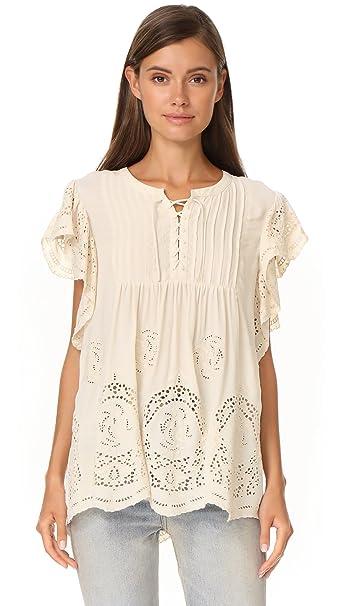 39e83f3755d Scotch & Soda Maison Scotch Women's Broderie Blouse at Amazon Women's  Clothing store:
