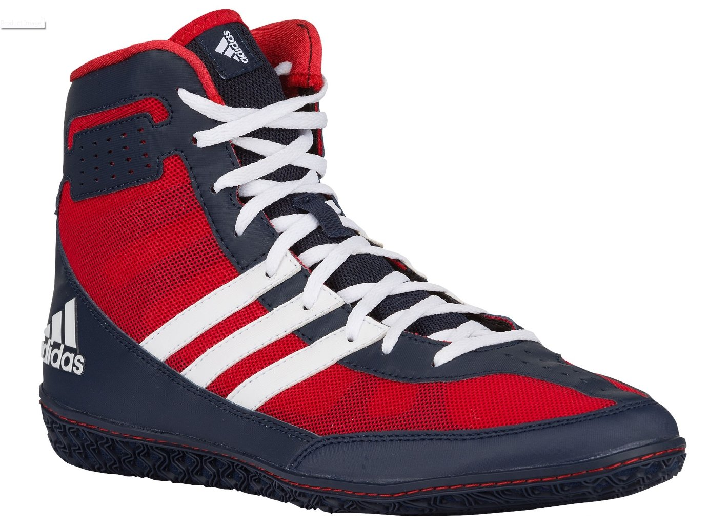 Adidas Performance Men\'s Mat Wizard.3 Wrestling Shoes Red/White/Navy