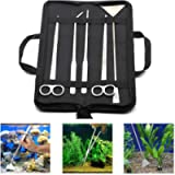 5Pcs Aquarium Tool Kit, Linseray Aquarium Plant Scissor Tweezers Spatula Tool Set Fish Starter Kits for Aquariums Tank…