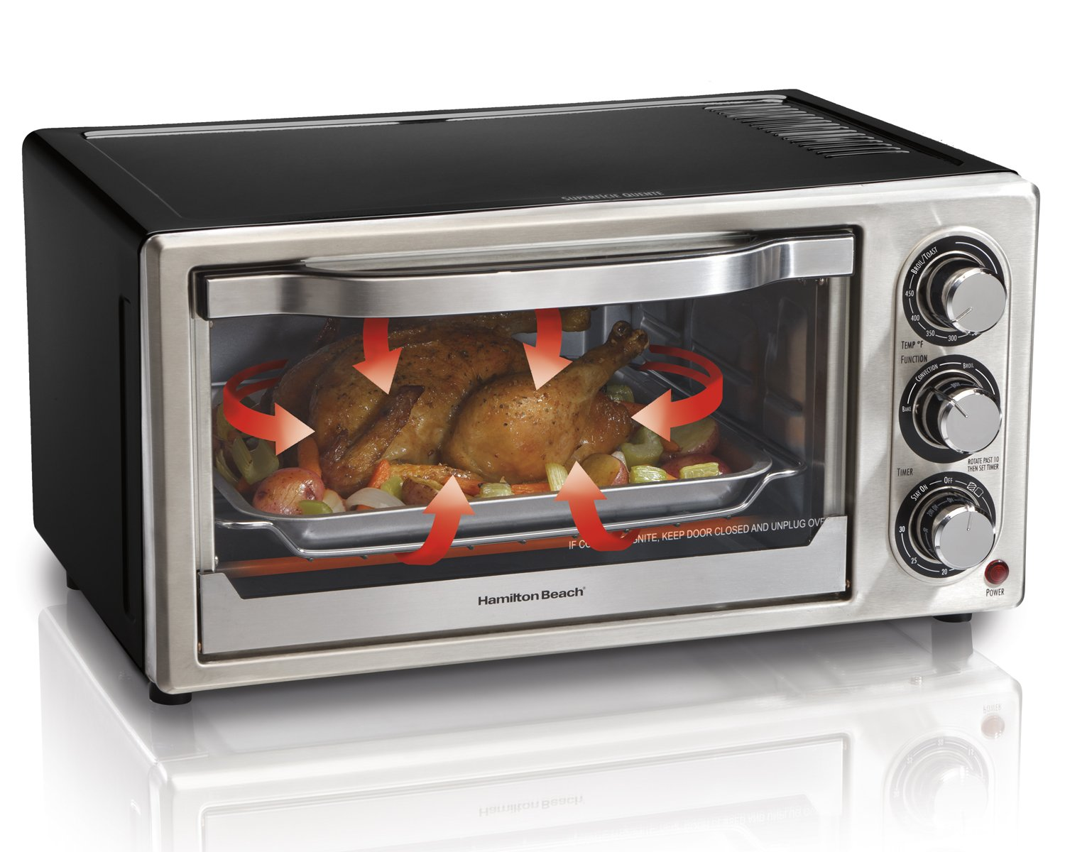 Amazon Hamilton Beach Convection 6 Slice Toaster Oven