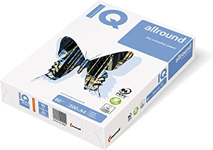 Mondi IQ - Papel multifunción (1 Pack de 500 hojas, 80 g/m², tamaño A4), color blanco: Amazon.es: Oficina y papelería