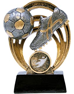 amazon com soccer trophy 7 5 spinning ball with motion graphics