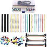 Glarks 248Pcs 40 Pin Breakaway Pin Headers and 2.54mm Circuit Board Jumper Caps with Breadboard Jumper Wire Ribbon…