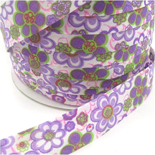 Cinta de algodón de 20 mm con diseño de bies, ribete de ribete, Style 27 H4497, 1 m: Amazon.es: Hogar