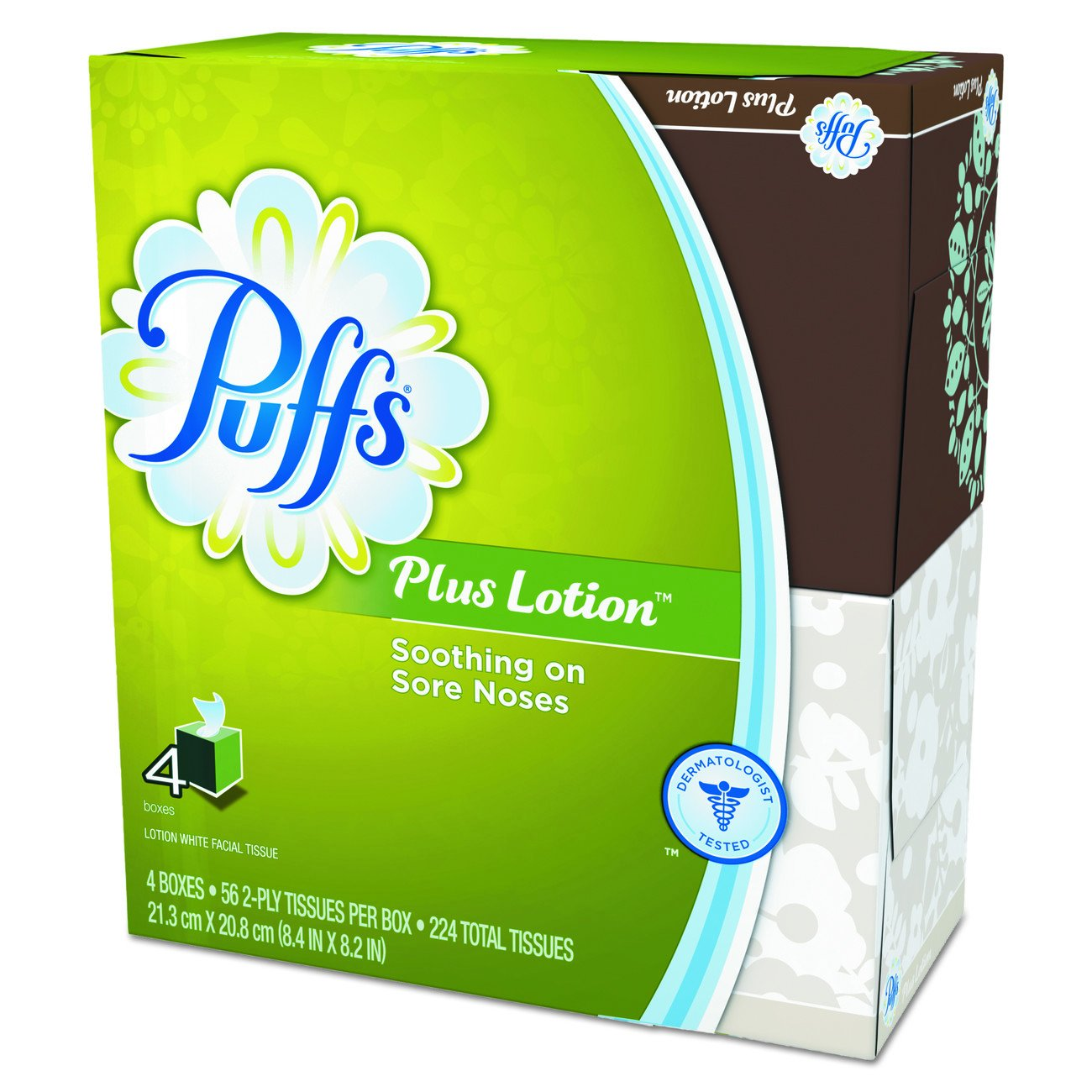 Puffs Plus Lotion Facial Tissues,4 count,pack of 6 product image