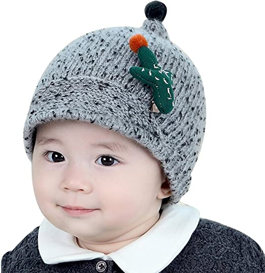 Hosaire niños Invierno Sombrero bebé de Punto Gorro Mignon Diseño ...