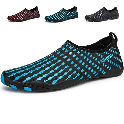 LeKuni Unisex Zapatos de Agua de Natación Calzado de Secado Rápido Respirable Soles de Color Zapatos de Agua Piscina Playa: Amazon.es: Zapatos y ...
