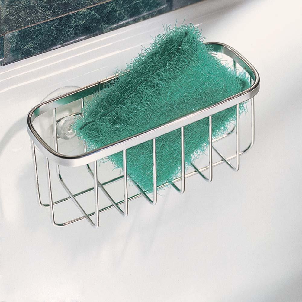 Amazon.com: InterDesign Gia Suction Kitchen Sink Caddy, Sponge ...