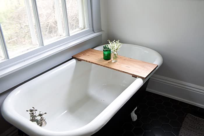 Amazon.com: Oak Wooden Bathtub Tray - Honey Caddy Natural Wooden ...