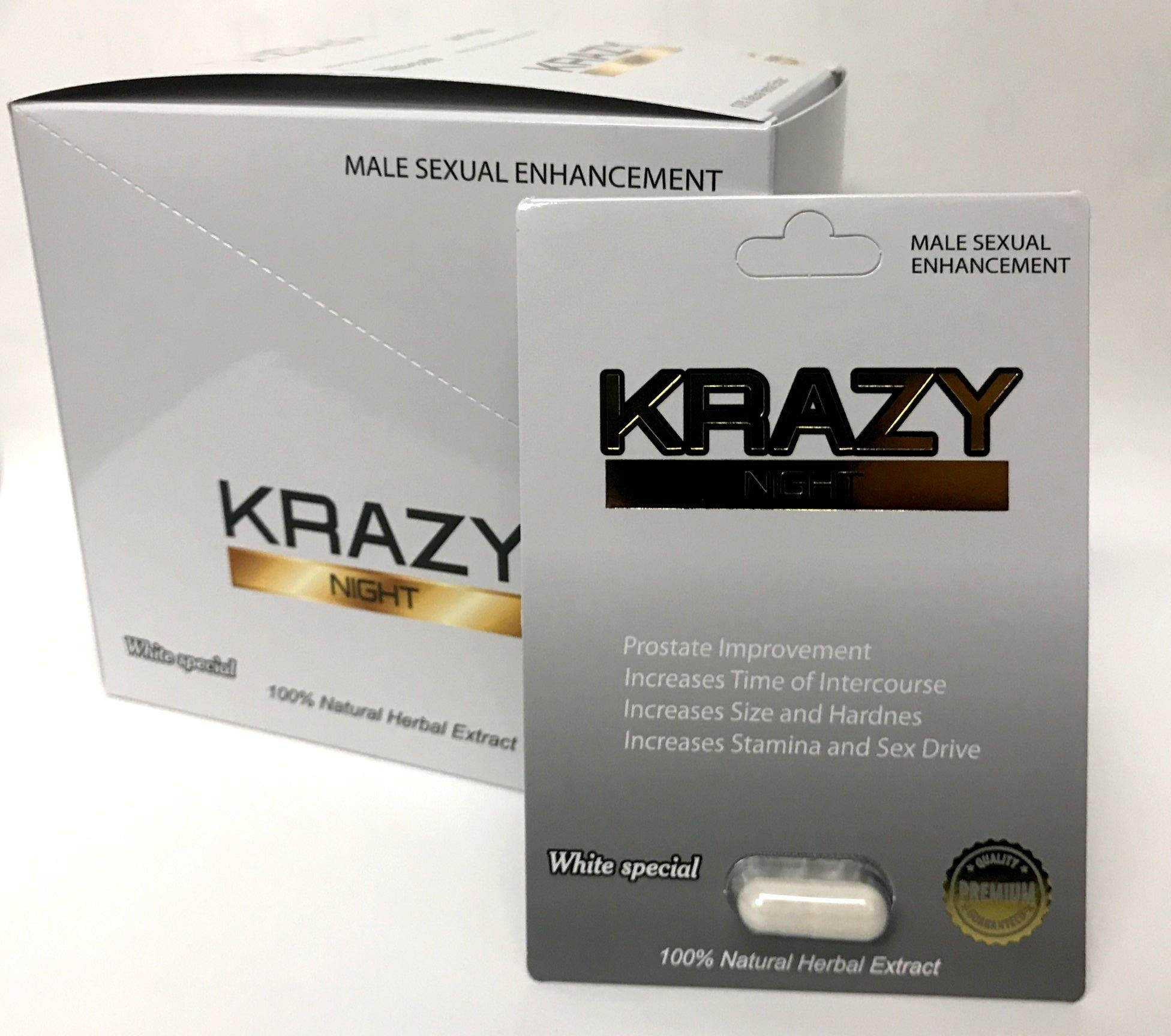 Nuri Krazy Night White Special Best Fast Acting Long Lasting Male Enhancing Pills (24 Pills in The Box)