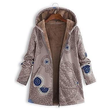 Giacche Ragazze Donne Inverno Cardigans Casual Moda Cappotti Eleganti Overcoat Lana Parka Outwear,YanHoo Plus Size Donna con Cappuccio Manica Lunga