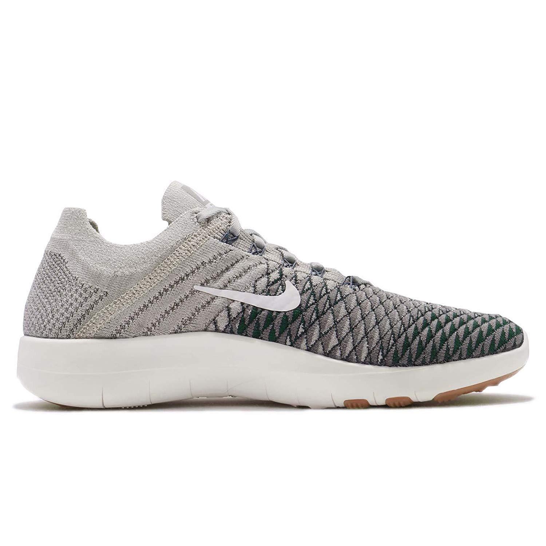 0ff06abd2a69f NIKE Womens Free TR Flyknit 2 Pale Grey/Light Charcoal/Vintage Green Nylon  Running Shoes 9.5 B US