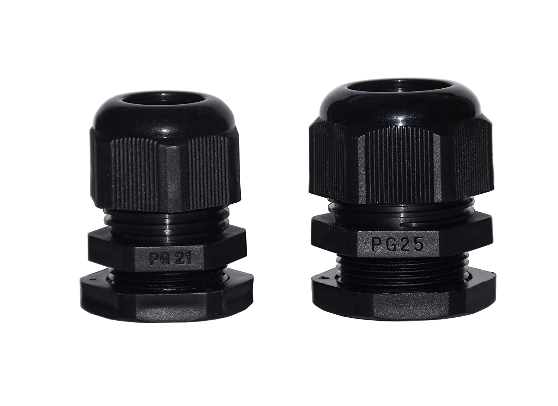 PG9 PG11 PG16 Cofufu 34 Pcs Plastic Waterproof Adjustable 3.5-13mm Cable Glands Joints PG21 PG13.5 PG7 PG25 PG19