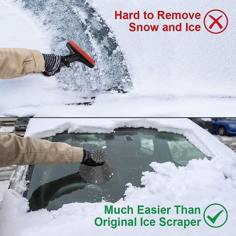 Portable Cone-Shaped 2-in-1 Refueling and Frost Snow Remover Removal Shovels Tool for Cars Upgrade Magic Funnel Round Ice Breakers Scraper for Car Ice Scrapers Car Windshield Snow Wiper