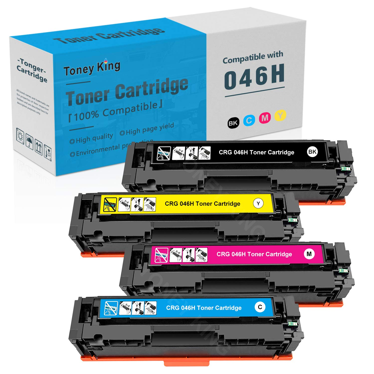 Toner Alternativo ( X4 ) 4 Colores Toney King 046 CRG046Sets