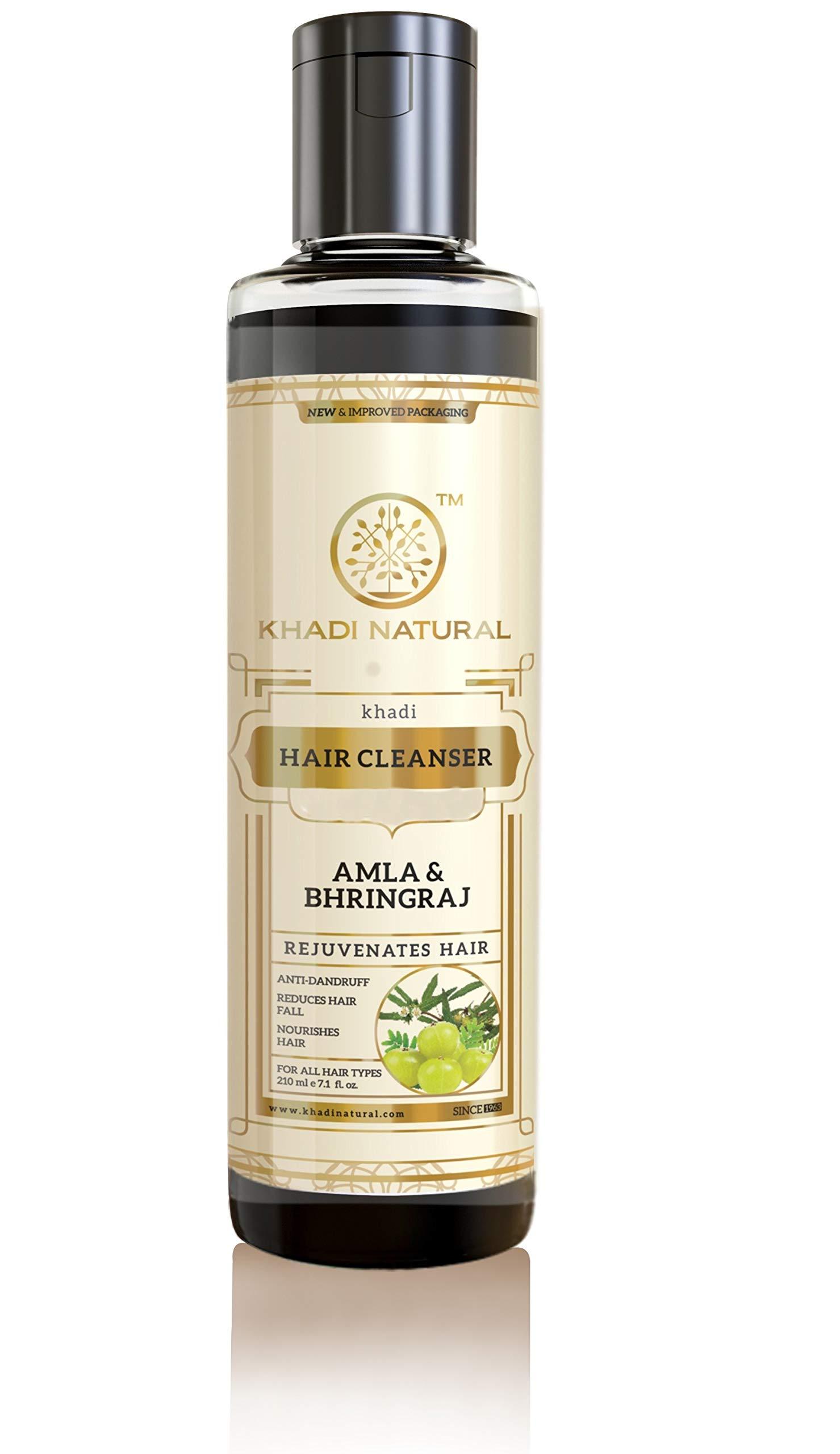 Khadi Natural Herbal Amla Bhringraj Shampoo/Cleanser, 210ml