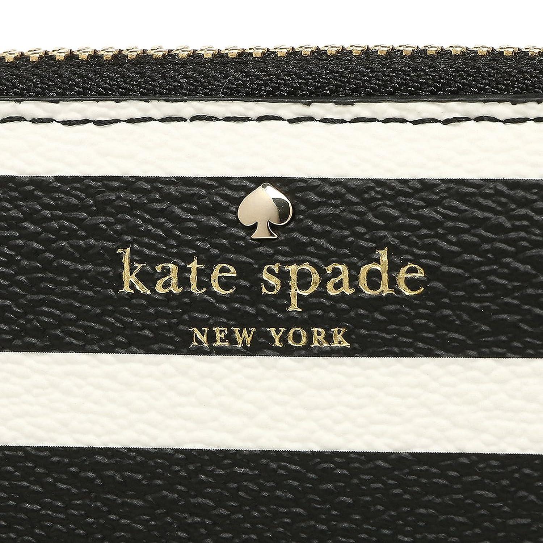 財布 ケイトスペード BLACK/ 【HYDE LANE STRIPE】 CREAM PWRU5863 017 長財布 KATE SPADE