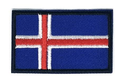 Bandera de Islandia bordado Applique parche para planchar (nuevo tamaño mediano. Pasa ...