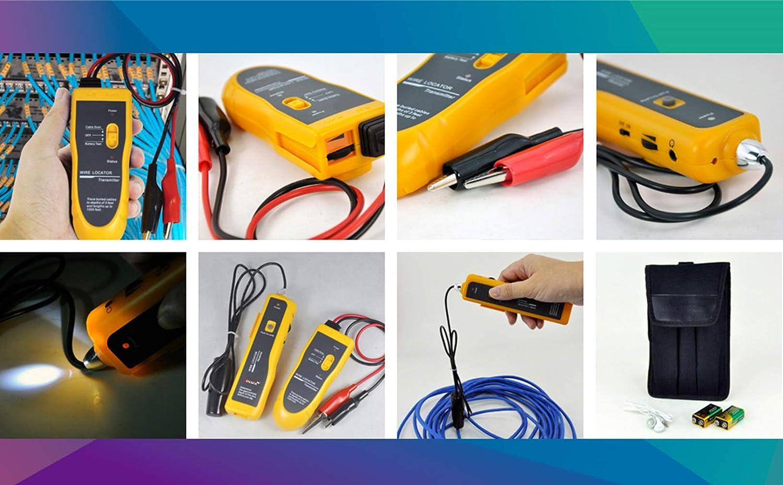 Kolsol F02 Localisateur de c/âbles souterrain avec /écouteurs pour localiser les fils et les fils de contr/ôle c/âbles pour animaux domestiques