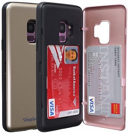 Amazon.com: Funda para Galaxy S9 con soporte para tarjetas ...