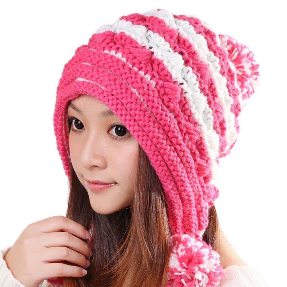 JIANCHIJY Hand-Lady Hat Knitted Hat Wool Hat Korean Womens Hat Ear Hats