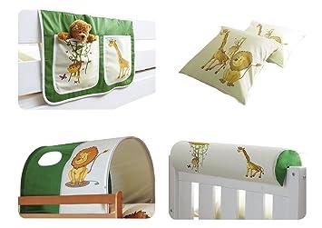 Etagenbett Vorhang Set Mädchen : Vorhang pirat grün beige für hochbett spielbett und etagenbett