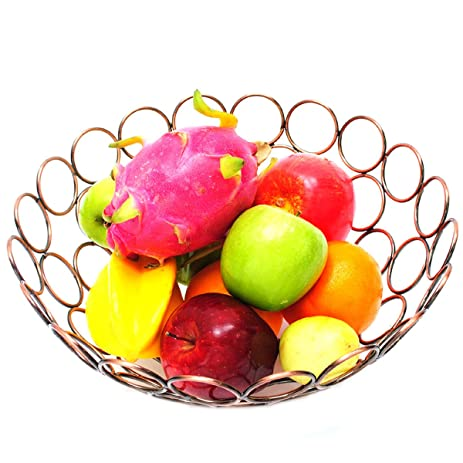 Fruit Basket Decoration Fruit Basket Tabletop Home Decor Dining Table  Countertop Office Or Bathroom, Fruit