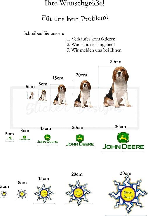 15cm Aufkleber Folie Wetterfest Made In Germany Kompatibel Für John Deere Schrift Ae83 Uv Waschanlagenfest Auto Sticker Decal Profi Qualität Farbig Digital Schnitt Auto